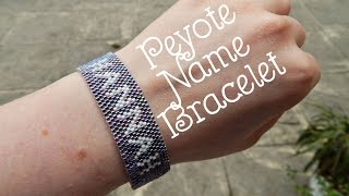 DIY Peyote Beaded Name Bracelet How To PLL Inspired ¦ The Corner Of Craft