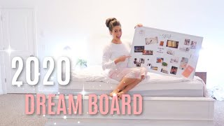 MAKING MY DREAM BOARD! 2020 // How to Make a Vision Board // Crush Your Dreams in 2020