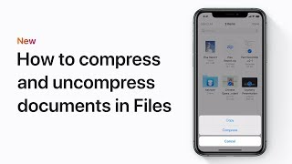 How to compress and uncompress documents in Files on iPhone, iPad, or iPod touch – Apple Support