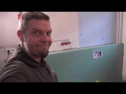 Abmauerung und Rigipsverkleidung für Waschtisch und Unterputzspülkasten Bausanierung Bremen Umbauhel