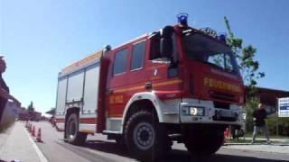 preview picture of video 'LF 20/24 Feuerwehr Vierkirchen - Gefahrenbremsung'