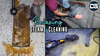 RELAXING Steam Cleaning Compilation | Disaster Car Detailing Of NASTY Interiors!