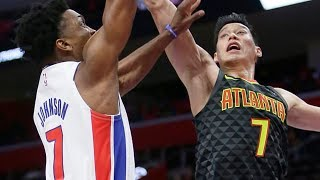 Jeremy Lin Full Highlights - Hawks at Pistons