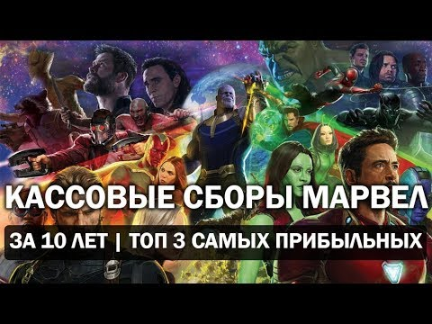Марвел - кассовые сборы за 10 лет | Топ 3 самых прибыльных фильма Marvel | Реальный Бизнес онлайн видео
