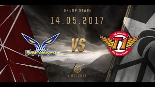 [14.05.2017] FW vs SKT [MSI 2017][Group Stage]
