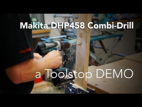 Makita DHP458 18v Cordless li-ion 16mm Compact 2-speed Combi Drill - Toolstop DEMO