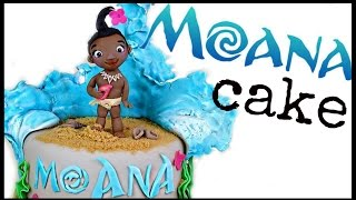 BABY MOANA CAKE | MOANA CAKE | PRINCESS MOANA CAKE | DISNEY MOANA THEMED CAKE