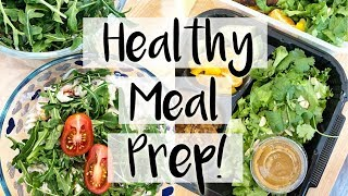 😍 Healthy Meal Prep for the Week! 🥗 Goat Cheese & Arugula Salad and Thai Veggie Burgers 🍔