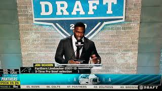 The Panthers draft Greg little at #37