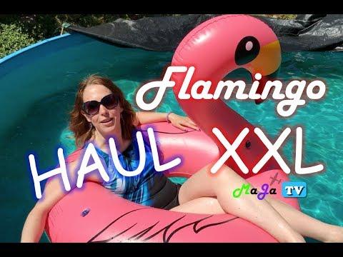 ⛱ HAUL: MEGA FLAMINGO Schwimmreifen in aufblasbarer XXL-GRÖSSE - Jasonwell | MaJa-TV #79