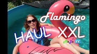 MEGA FLAMINGO XXL Schwimmreifen aufblasbar - Jasonwell ⛱ HAUL | MaJa-TV #79