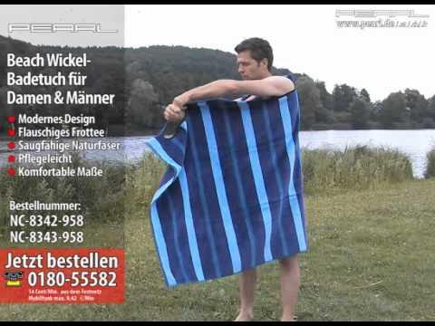 PEARL beach Umkleide-Badetuch 172 x 100 cm für Herren