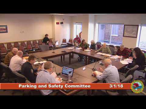 Parking and Traffic Safety Committee 3.1.2018