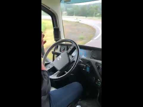 Ride along in autonomous Volvo Trucks platoon