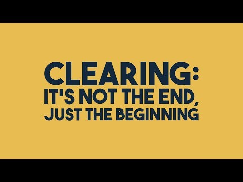Clearing: It's not the end, just the beginning