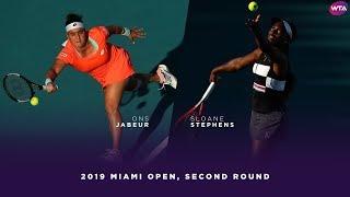 Ons Jabuer vs. Sloane Stephens   2019 Miami Open Second Round   WTA Highlights