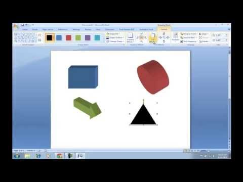How To Make 3d Shapes In Microsoft Word?
