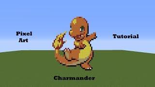 Kanto Pokemon Pixel Art Tutorial 4 - Charmander (By Kidduff1)