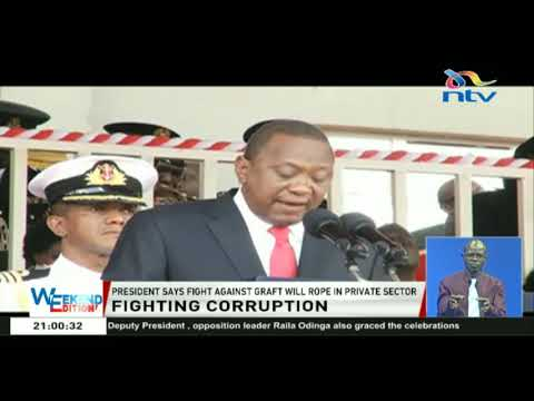President Kenyatta says the fight against graft will rope in the private sector