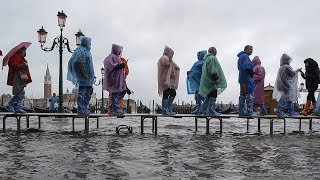 video: Venice mayor blames climate change as flooded city hit by highest tide in 50 years