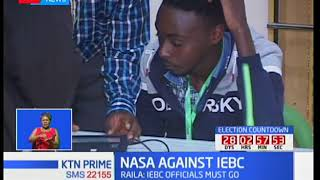 NASA presidential candidate Raila Odinga insists that IEBC still has enough to switch firms