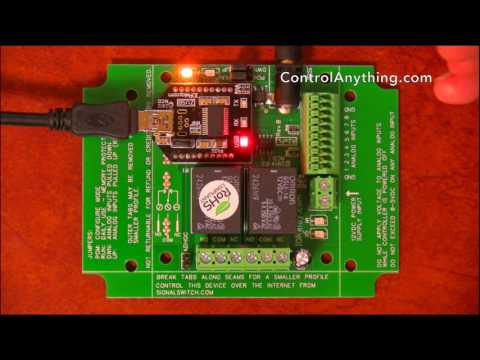 2 Channel USB Relay Board with Integrated ADCs ProXR Lite Hardware Overview