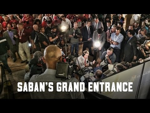 Watch Nick Saban's grand entrance to SEC Media Days 2015