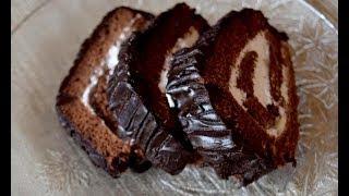 chocolate cake with fresh cream filling