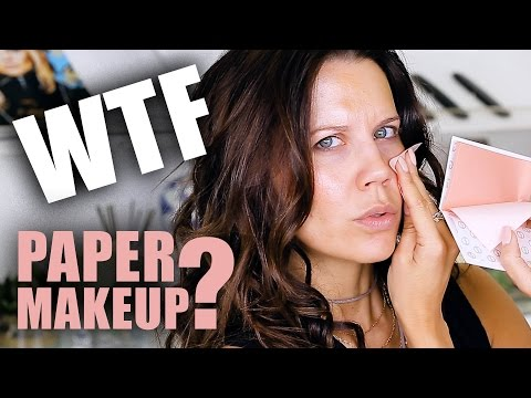 PRESS-ON PAPER MAKEUP ... WTF ???