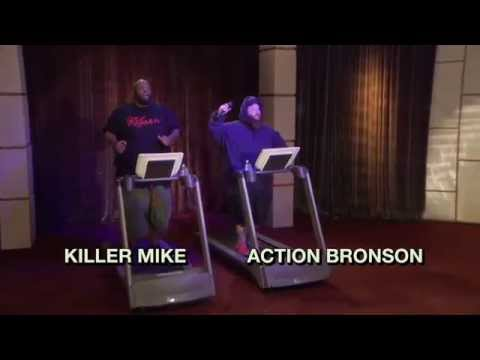 Treadmill Rap Battle Action Bronson Killer Mike | The Eric Andre Show