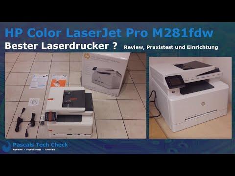 HP Color LaserJet Pro M281fdw | Bester Multifunktions-Farblaserdrucker? | Praxistest und Einrichtung