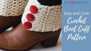 Easy And Cute Crochet Boot Cuff Pattern