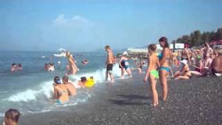 Пляж. Черное море. Адлер 2010