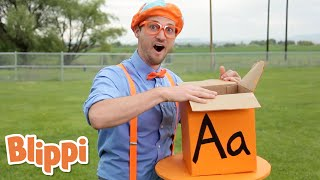 Learn The Alphabet With Surprise Boxes | Blippi | Learn ABCs With Blippi | Funny Videos & Songs