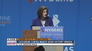 Catherine Cortez Masto gives victory speech in Nevada Senate race, first Latina senator