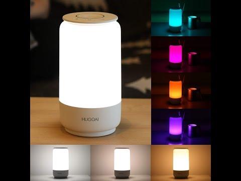 RGB Led Lampe Ambiente Licht mit USB C  HUGOAI 3 Farbtemperaturen und Drehrad Dimmer