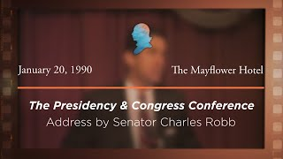 Click to play: Opening Address by Senator Charles Robb [Archive Collection]