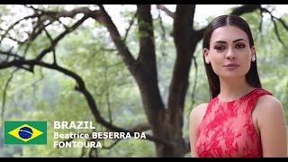 Beatrice Fontoura Contestant from Brazil for Miss World 2016 Introduction