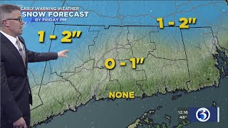 FORECAST: Cool and wet today, rain transitions to snow tomorrow before ending
