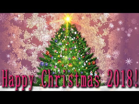 🎄Happy Christmas 2018!🎄  4K Animation Greeting card, Video for WhatsApp