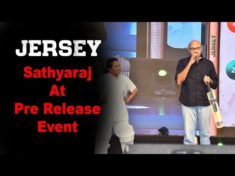 Sathyaraj at Jersey Movie Pre Release Event