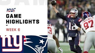 Giants vs. Patriots Week 6 Highlights | NFL 2019
