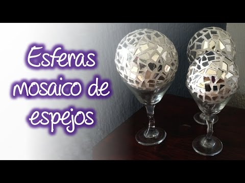 Esferas de espejo tipo mosaico para decoración , Spheres mirror mosaic for decoration