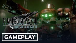 Final Fantasy VII Remake: Scorpion Sentinel Boss Battle Gameplay - E3 2019
