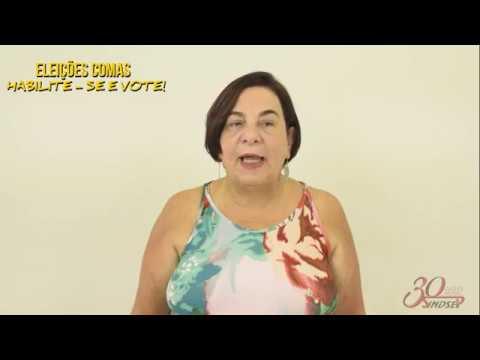 Marcia Perrone convida todos/as para as eleições do Comas