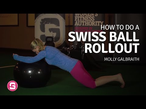 Swiss Ball Rollout - How To Do A Swiss Ball Rollout