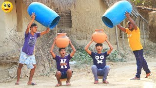 New Top Funny Comedy Video 2020__Very Funny Stupid Boys__Episode--108--Indian Fun || ME Tv