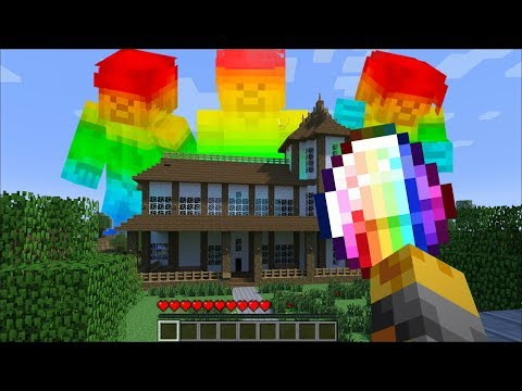 GIANT RAINBOW STEVE APPEAR IN MY HOUSE IN MINECRAFT !! Minecraft Mods