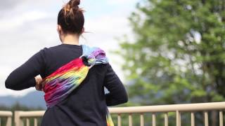 Back Carry in a Ring Sling with a Toddler