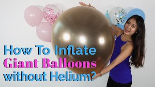 How To Inflate Giant Balloons with Air At Home? 🎈 (Hand Pump or Electric Inflator)